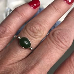 hellmut cordes Jewelry - Lucky Jade sterling silver simple ring 6 1/2